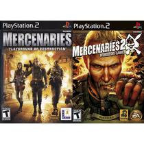 Mercenaries 1 E 2 Mercenários Ps2 Play2 Patch Coleção