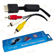 Cabo 2 Metros Ps2 Ps1 Av Rca Audio Video Playstation 2