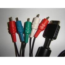 Cabo Video Componente Para Ps2 E Ps3