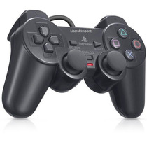 Controle Manete Playstation 2 Vibratório Cabo Longo Ps2 Fret