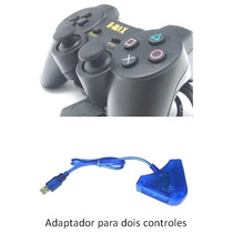 Controle Ps2 Ps1 + Adaptador Para Ps3 Pc Notebook