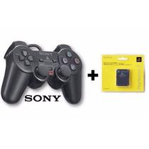 Controle Playstation 2 Sony Original Dualshock 2+memory Card