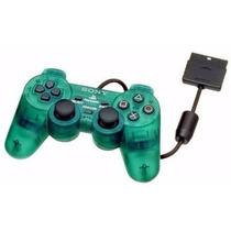 Kit 2 Controle Joystick Ps2 Playstation 2 Transparente