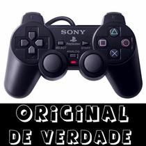 Controle 100% Original Ps2 + Jogo A Sua Escolha Dualshock 2