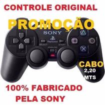 Controle Original Para Playstation 2+brinde Especial