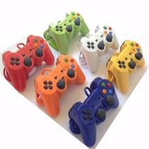 Lote 10 Controle Manete Joystick Playstation 2 C/ Turbo