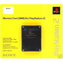 Memory Card 8mb Original Sony Lacrado Play 2 Ps2 Mais Brinde