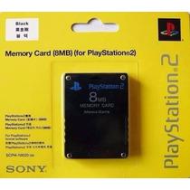 Memory Card Ps2 Sony 8mb Lacrado + Controle De Ps2 Original