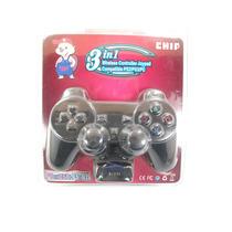 Controle Joypad Dualshock Sem Fio 3 Em 1 Para Ps2/ps3/pc