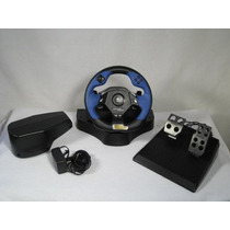 Volante Com Pedal Logitech Driving Force Feedback