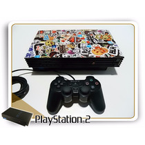 Console Playstation 2 Ps2 + Controle + Adesivo + Cabos