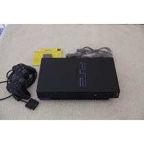 Playstation Fat Tijolão Travado + Controle + Mamory Card Ps2