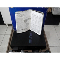 Playstation 2 Tijolão Na Caixa Com Manual.