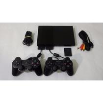 Playstation 2 + 2 Controles + 5 Jogos.