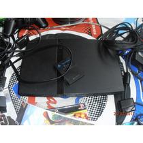 Playstation 2 Slim Com 4controles,tapete De Dança E Jogos