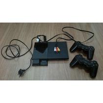 Playstation 2 Ps2 Desbloqueado Controles Sem Fio Memory Card