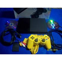 Lindo Ps2 Slim Playstation 2 Serie 90000 Na Caixa!!!