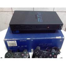 Playstation2 Modelo Phat 50001 Na Caixa+ 2 Jogos Originais A