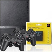 Playstation 2 Destravado + 2 Controles Original Sony + Card
