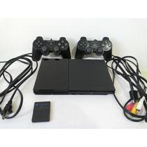Playstation 2 Slim 2 Controle 10 Jogos Memory Card Frete