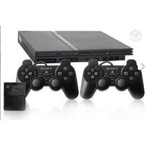 Playstation 2 Destravado + 2 Controle + Memory Card De 8mb