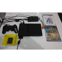 Playstation 2 Completo Com Jogos + Controle +cabo Av + Fonte