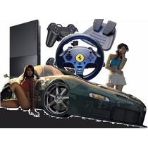 Playstation 2 Desbloqueado+control+volante E Pedal + Brinde