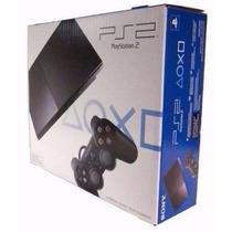 Playstation 2 Desbloqueado Slim+controle+memory Card+10jogos