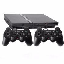Playstation 2 - Usado - 2 Controles - 5 Jogos Ps2 Destravado