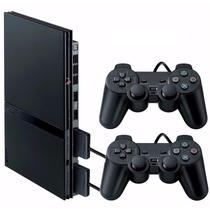 Playstation 2 Desbloqueado Novo Com 2 Controles Paralelos