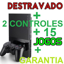 Video Games Ps2 Desbloqueado + 15 Games + Memory + Garantia!