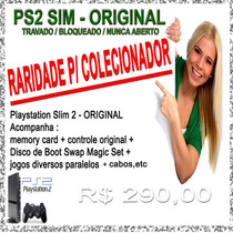 Ps2 - Playstation 2 Slim - Original Travado Bloqueado