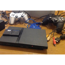 Ps2 - Playstation 2 - Destravado - 2 Controles - Semi Novo
