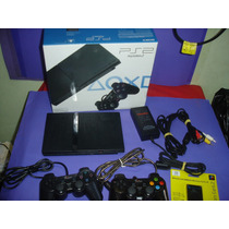 Playstation 2 Slim Com 2 Controles , Memory Card + Jogos