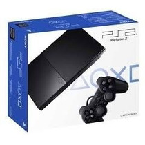 Playstation 2 Slim Destravado+2controles+2jogos