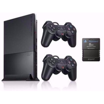 Ps2 Playstation 2 Slim Destravado + Memory + 20 Jogos Variad