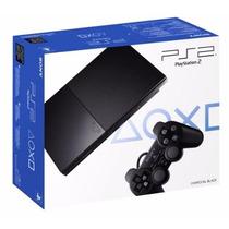 Playstation 2 Slim Novo - Desbloqueado Memory Card 5 Jogos