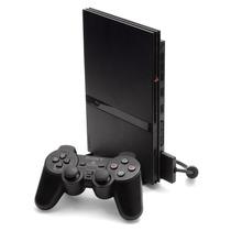 Playstation 2 Desbloqueado 2 Controle + 10 Jogos De Sua Esco