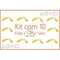 Kit 10 Cabos Flat L Leitor Óptico Playstation Slim 70xx Flex