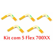Lote 5 Flex Ps2 700xx Cabos Flat L 70xxx Frete 7 Reais