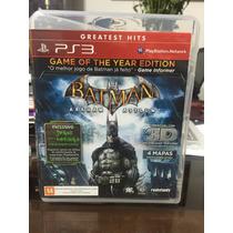 Jogo Playstation 3 - Batman Arkham Asylum Game Of The Year