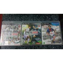 Games Pes 2013; Pes 2014 E Fifa 13 - Ps3 Midia Física