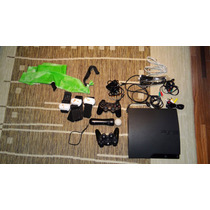 Ps3 160gb +6 Jogos C/ Acess.+ 3 Controles + Cabos+ Kit Move