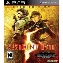 Jogo Resident Evil 5 Gold Para Ps3 /semi Novo/ Barato!!!!