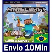 Minecraft Edition Ps3 Código Psn - Totalmente Em Português