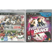 Kit Jogo Pes 2014 + Everybody Dance Ps3 Midia Fisica Lac Nf