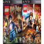 Lego Harry Potter + Lego The Lord Of Rings Ps3 Psn Digital