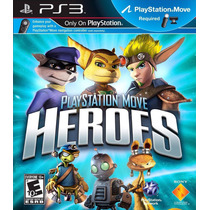Jogo Playstation Move Heroes Para Ps3 /semi Novo/ Barato!!!!