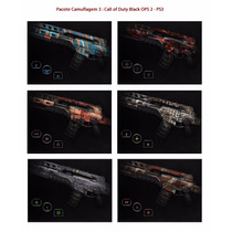 Kit 3: Camuflagens Call Of Duty Black Ops 2 - Psn Codigo Ps3