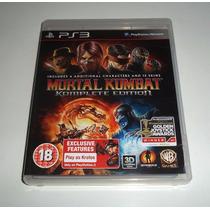 Mortal Kombat Komplete Edition 3d Ps3 Estado De Novo Zero